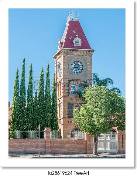 Free art print of Clock tower, Department of Public Works, Kimberley