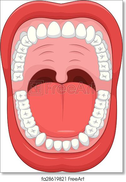 image about Mouth Printable identify Absolutely free artwork print of Cartoon Open up mouth and white physical fitness