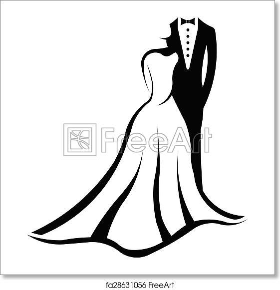 Free art print of Wedding couple logo. Wedding couple