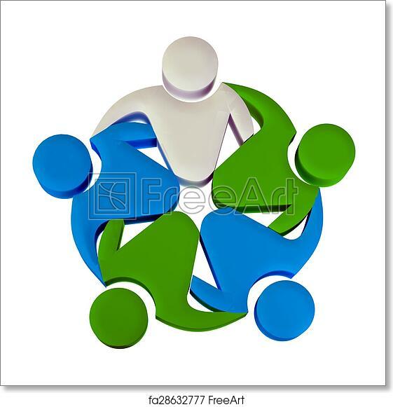 Free Art Print Of Teamwork 3d Leader Logo Teamwork Concept Of