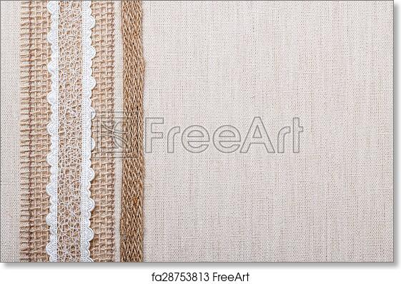 Free art print of Lace frame on linen cloth background. Lace frame ...