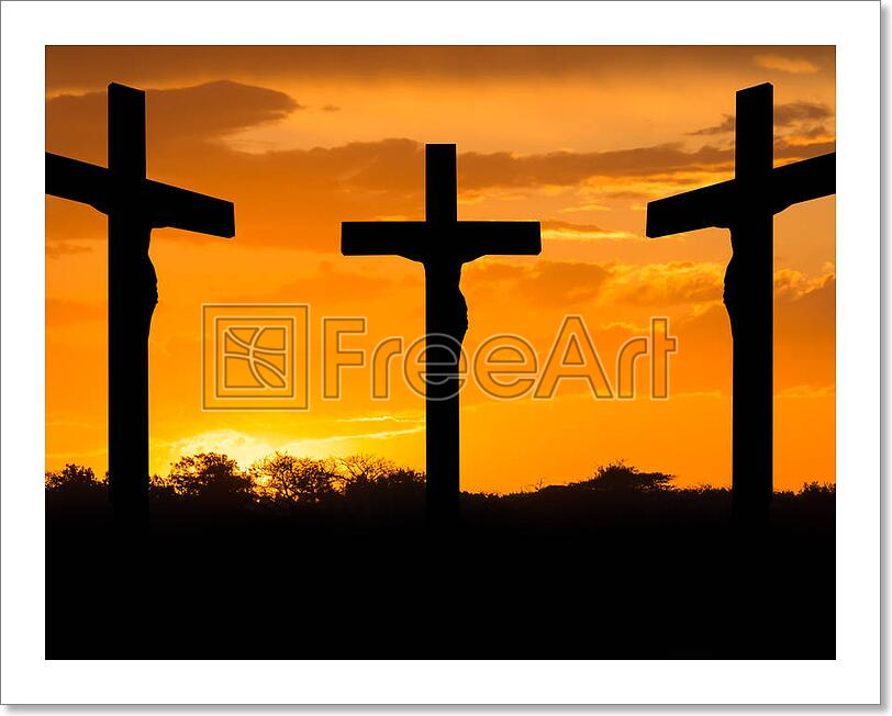 jesus and crosses art print home decor wall art poster c ebay