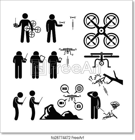 Free art print of Man Controlling Drone Quadcopter