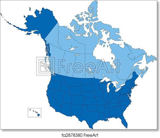 Canada Usa Map States And Provinces Map Usa Map Images - Map of canada and usa