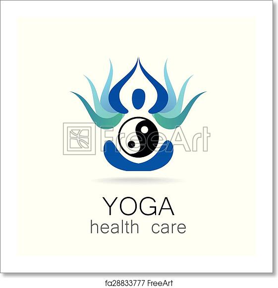 Free Art Print Of Yoga Health Care Yoga Logo Design Vector Template Yoga Concept Icon Meditation Spa Logotype Freeart Fa28833777
