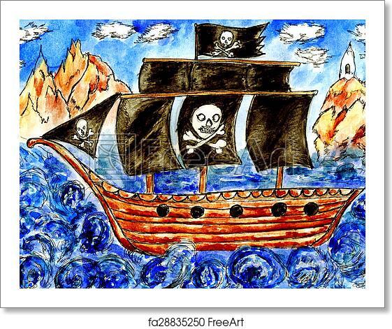 Free Art Print Of Pirate Boat