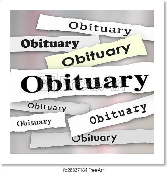Free art print of Obituary Newspaper Headline Death Notice Memorial