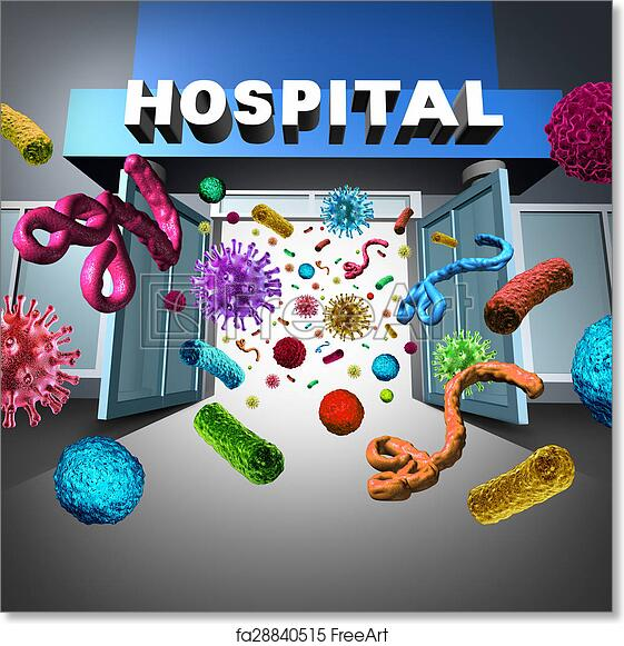 Free Art Print Of Hospital Germs Hospital Germs Spreading