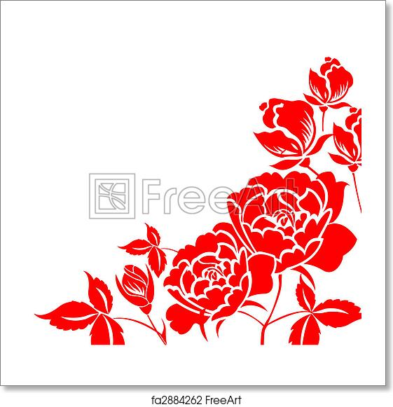 b6ef7655c Free art print of Chinese paper-cut of peony flower. Chinese ...