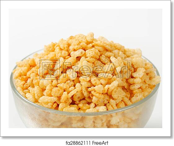 Free art print of Rice krispies. Bowl of toasted rice ...
