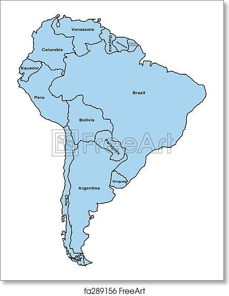 Free Art Print Of South America South America Map Freeart Fa289156
