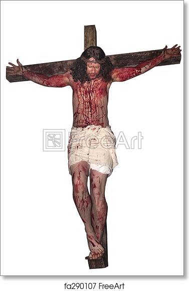 Free art print of Jesus Crucified