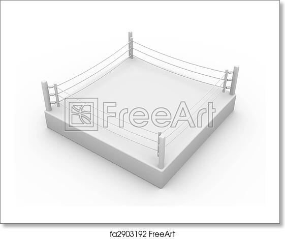 Free art print of boxing ring 3d illustration isolated on white free art print of boxing ring ccuart Images