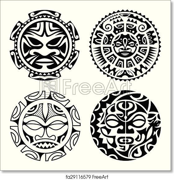 Free Art Print Of Set Of Polynesian Tattoo