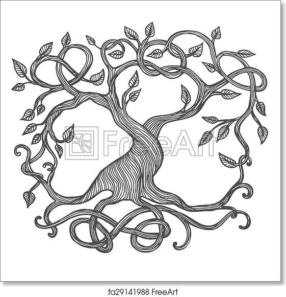 photo relating to Tree of Life Printable identified as No cost artwork print of Celtic Tree of Lifetime