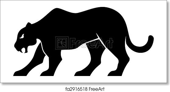 free art print of panther silhouette vector black panther