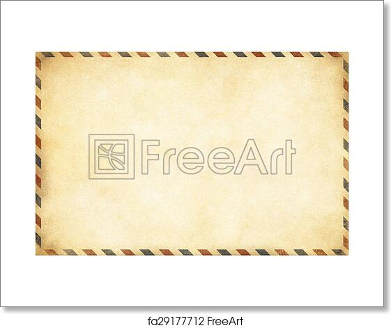 Free art print of Old postcard template with clipping path included