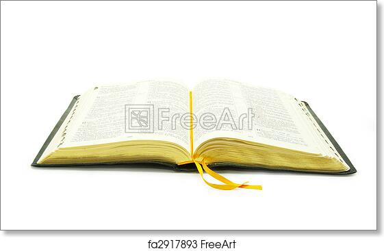 free art print of open bible the opened bible is isolated on a