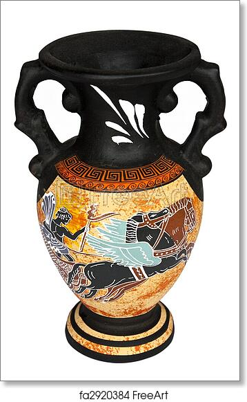 Free Art Print Of Greek Vase Replica Of Antique Greek Vase Isolated