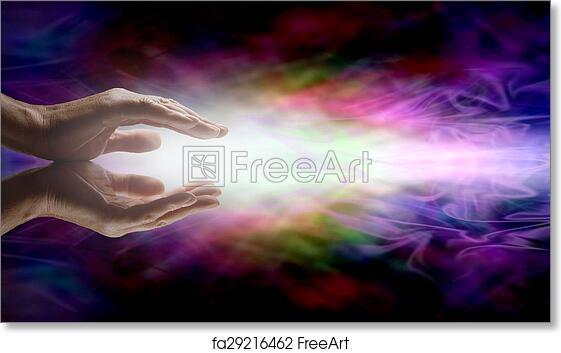 Free Art Print Of Beaming Reiki Healing Energy