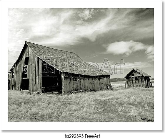 Free Art Print Of Ghost Town. Abandoned Farm In Central