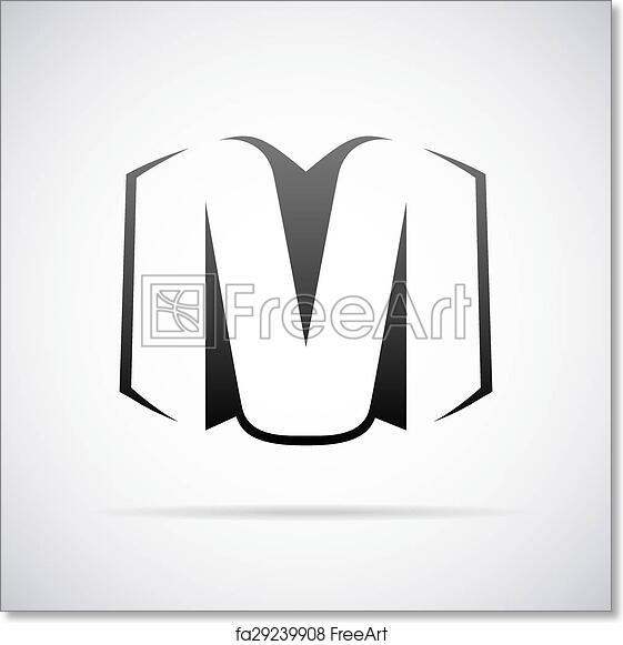 free art print of vector logo for letter m logo for letter m design