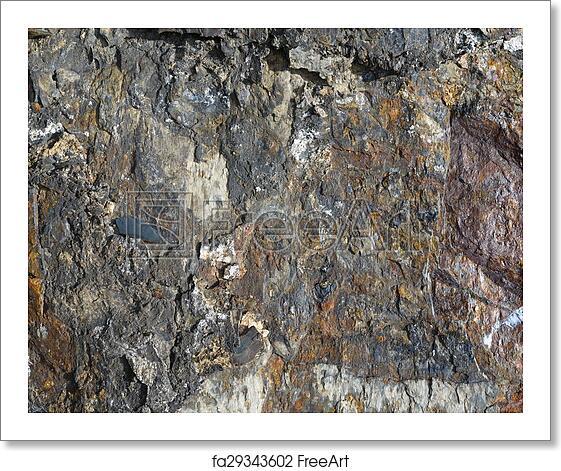 Free art print of Texture layers metamorphic rocks