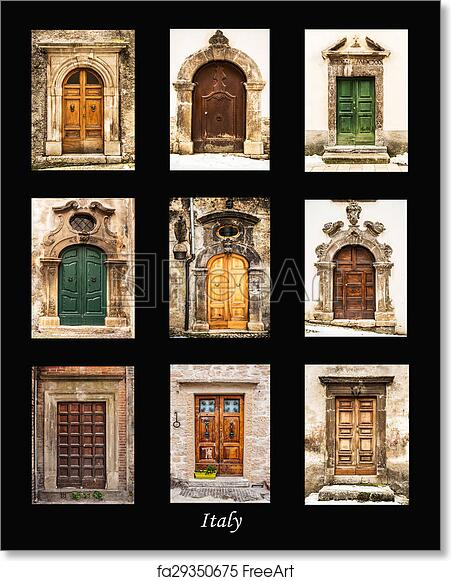 Free art print of Italian doors  sc 1 st  FreeArt & Free art print of Italian doors. Group of italian old doors ...