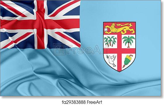 Free Art Print Of Fiji Flag