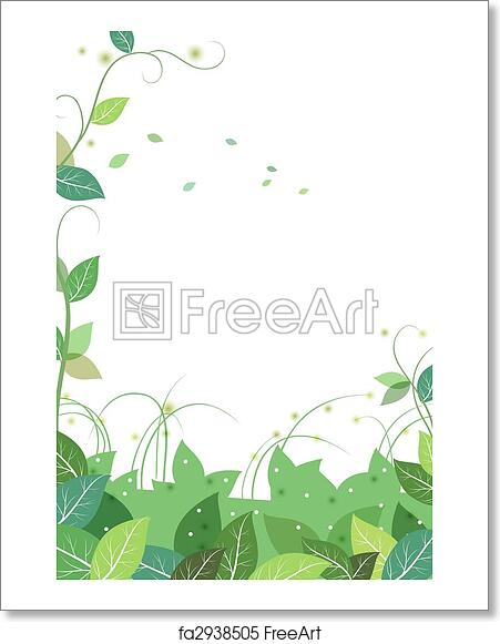 457fdf862 Free art print of Vines and leaves background. Drawing of green ...