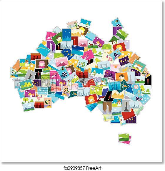 Australia Map Art.Free Art Print Of Australia Map