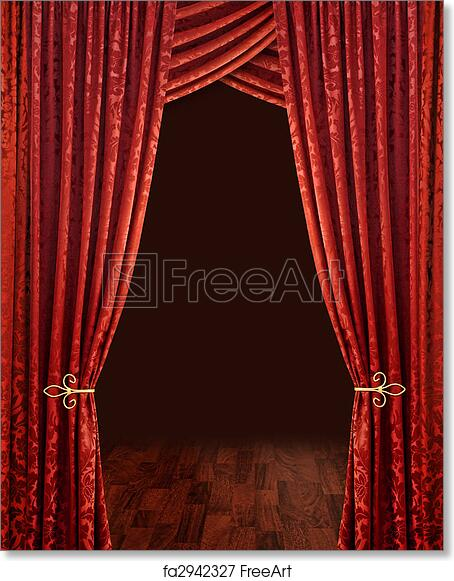 Free Art Print Of Red Theatre Curtains