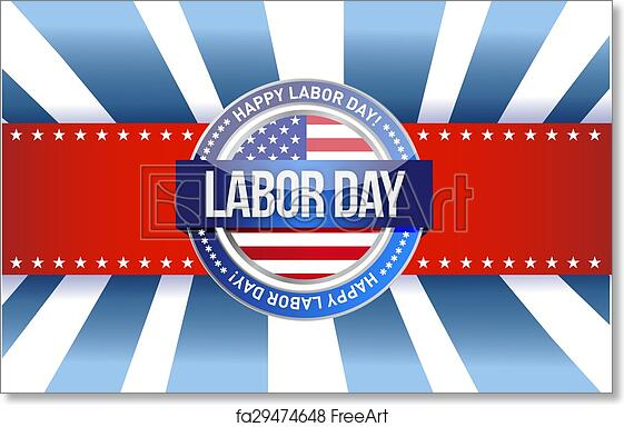 photo about Closed Labor Day Printable Sign identify Cost-free artwork print of Labor working day star indicator instance style and design image