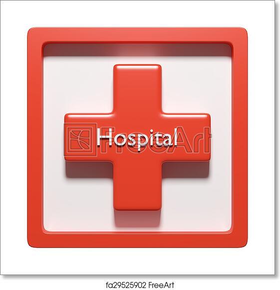 Free Art Print Of 3d Hospital Symbol 3d Rendering Of A Cross