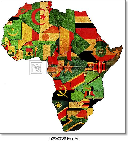 Free Art Print Of Africa Old Map Some Very Old Grunge Map With