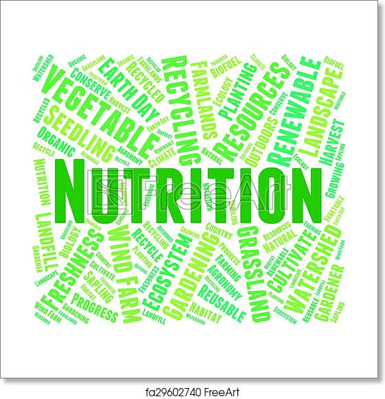 Free Art Print Of Nutrition Word Shows Food Words And Nutriments