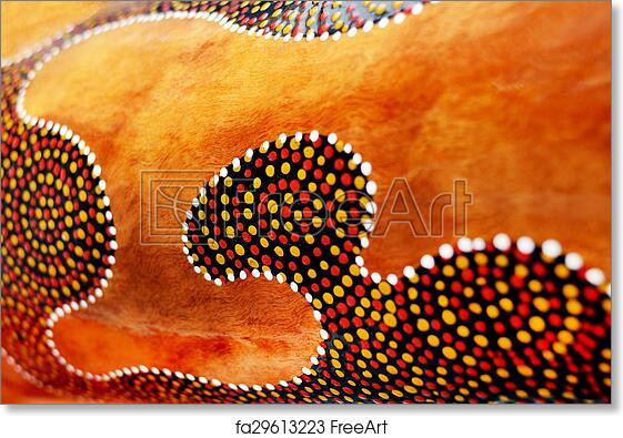 Free art print of Details of Indigenous Australian art Dot painting