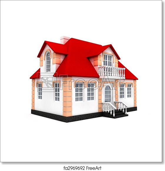 Free Art Print Of House Isolated 3d Model