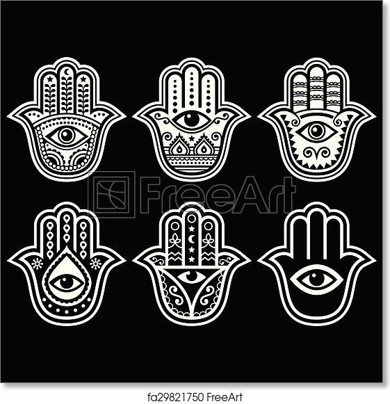 Free Art Print Of Hamsa Hand Hand Of Fatima Amulet Hamsa Hand