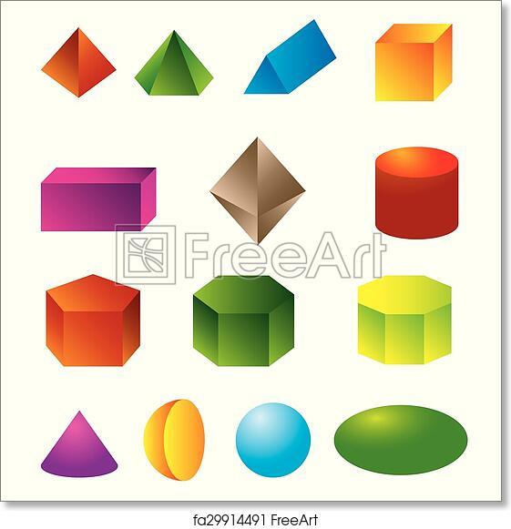 Free art print of 3d geometric shapes vector  eps