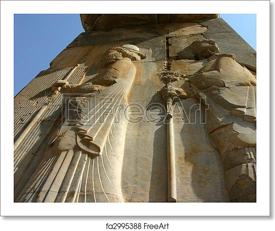 Free Art Print Of Bas Relief At Persepolis Iran Bas Relief On Xerxes Gateway Gate Of All Nations At Persepolis Iran Freeart Fa2995388