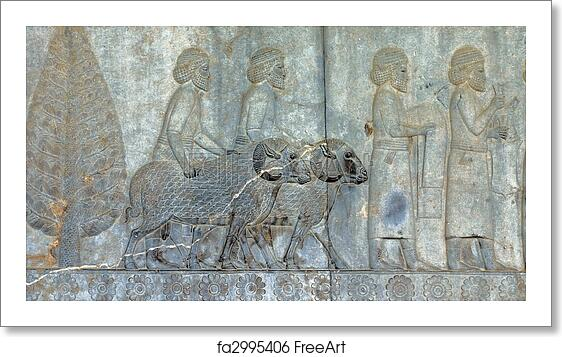 Free Art Print Of Ancient Bas Reliefs Of Persepolis Iran Stone Carving Bas Relief From Ruins Of Ancient Persepolis Pars Fars Capital City Of The Persian Empire Now In Iran 5th Century