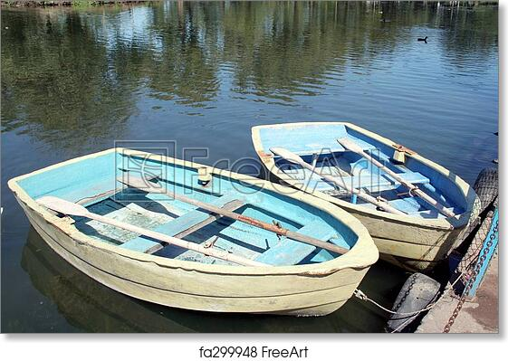 Free art print of Wooden Row Boats