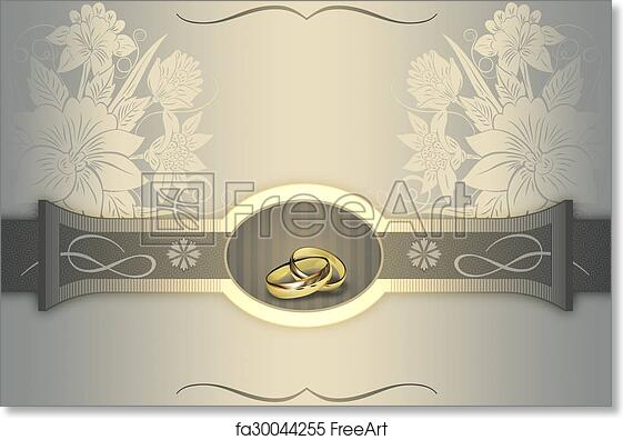 Free Art Print Of Wedding Invitation Card Design Elegant Floral