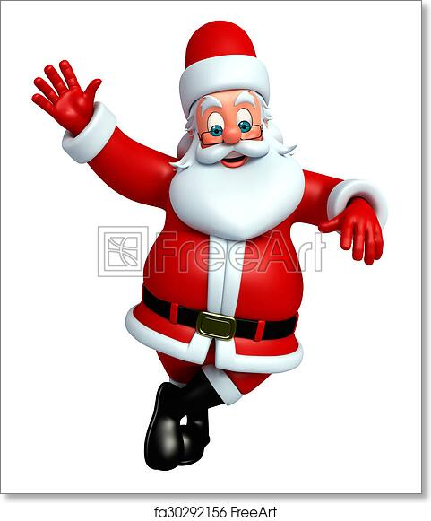 photograph relating to Santa Claus Printable Pictures referred to as No cost artwork print of Cartoon Santa claus