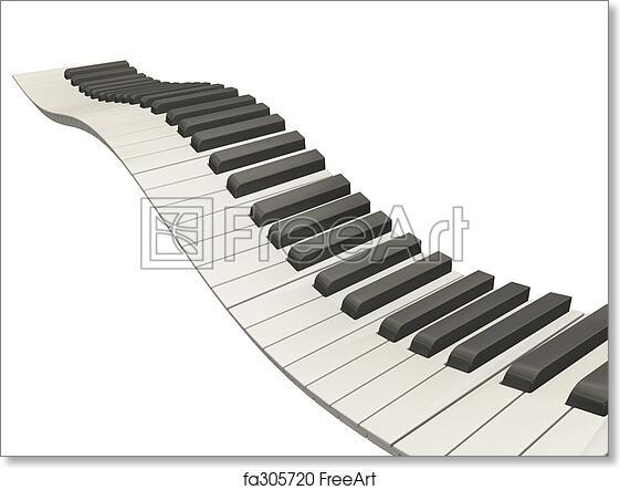 picture regarding Printable Piano Keys identified as No cost artwork print of Wavy piano keys