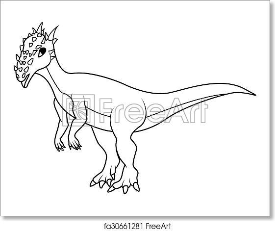 Free Art Print Of Coloring Book Dracorex Dinosaur
