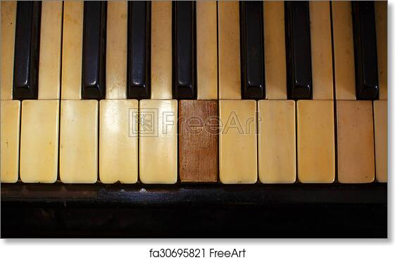 K Closeup Of Black And White Piano Keys Art Print Home Decor Wall Art Poster