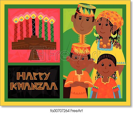 Kwanzaa card demirediffusion free art print of kwanzaa card cute kwanzaa greeting card with m4hsunfo