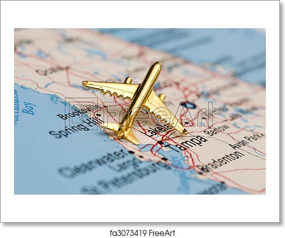 Free art print of Golden Plane Over Florida